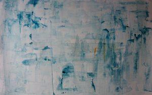 abstrait I acrylique sur papier 71-110 cm