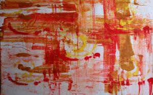 abstrait III acrylique sur papier 71-110 cm