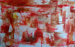 abstrait IV acrylique sur papier 71-110 cm