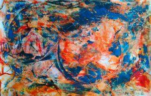 abstrait IX acrylique sur papier 71-110 cm