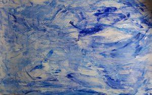 abstrait V acrylique sur papier 71-110 cm