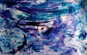 abstrait VI acrylique sur papier 71-110 cm