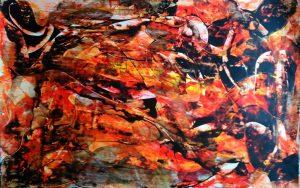 abstrait VIII acrylique sur papier 71-110 cm