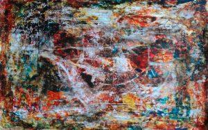 abstrait XI acrylique sur papier 71-110 cm