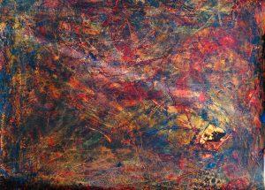 abstrait XII acrylique sur papier 71-110 cm